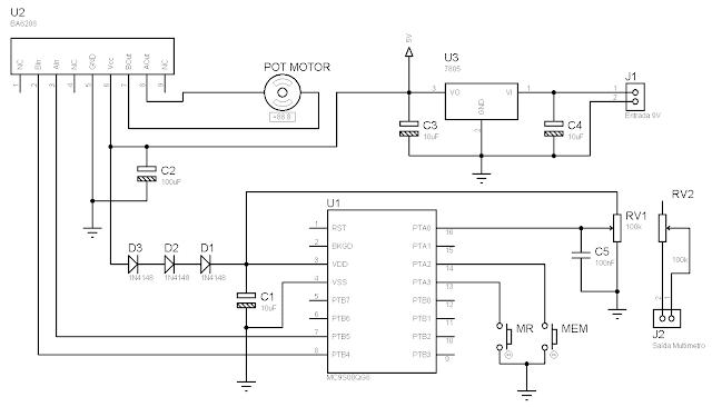 Esquema microcontrolador potenciometro