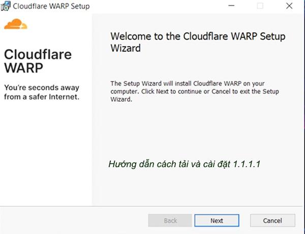 Hướng dẫn cách tải và cài đặt 1.1.1.1 trên máy tính PC Windows 7/8/10 a