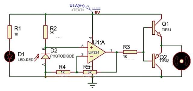 Implementasi Sensor Photodioda dengan Kendali Analog