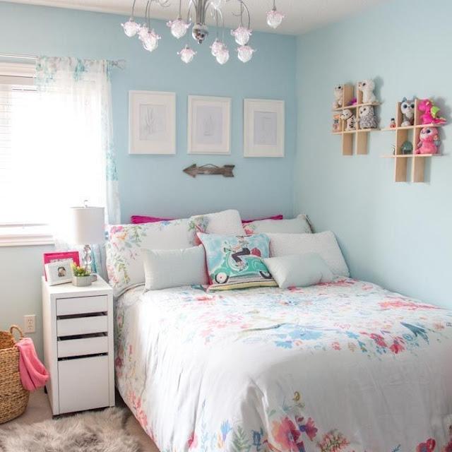 Dekorasi Kamar Tidur Sederhana Warna Biru