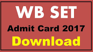 WB SET Admit Card 2017 Download