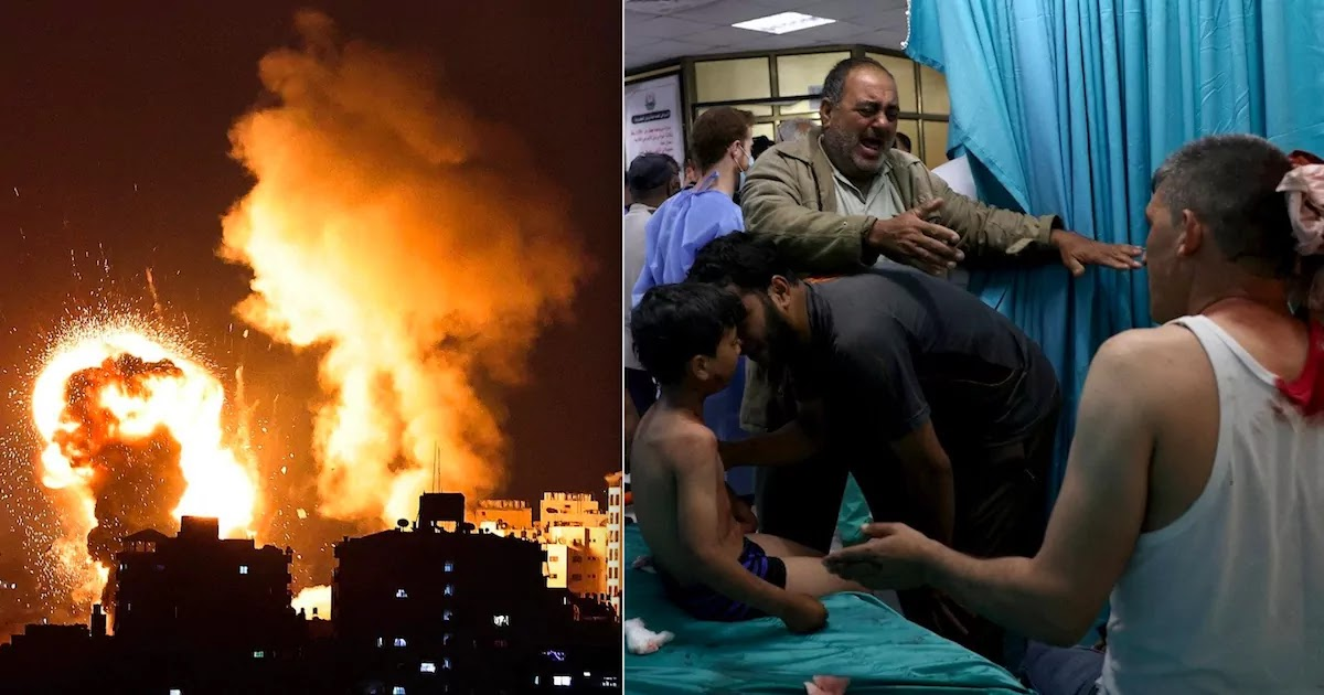 28 Palestinians Including 10 Children Are Killed By Israeli Airstrikes In Gaza Following Hamas Rocket Attacks