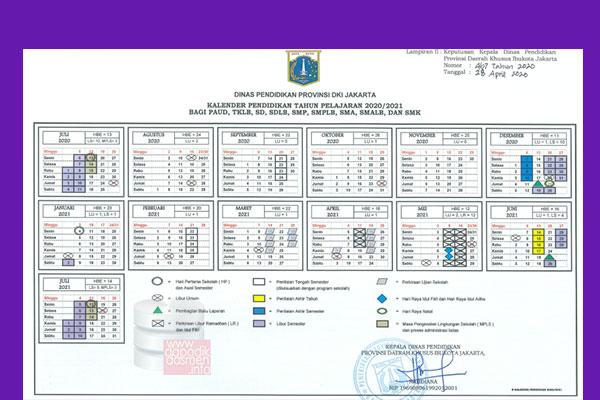 Anda Mencari Kalender Pendidikan Provinsi DKI Jakarta Tahun Pelajaran 2020-2021? Kaldik Jatim Tapel 2020/2021 bisa didownload dengan mudah disini