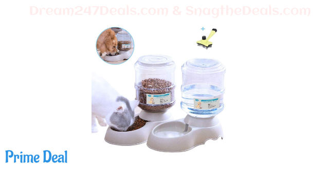 50% off  Automatic Cat Food Feeder and Water Dispenser in Set