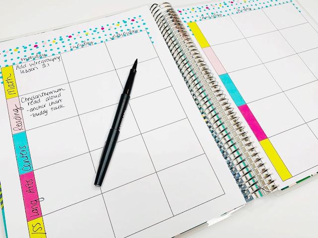Editable teacher lesson plans