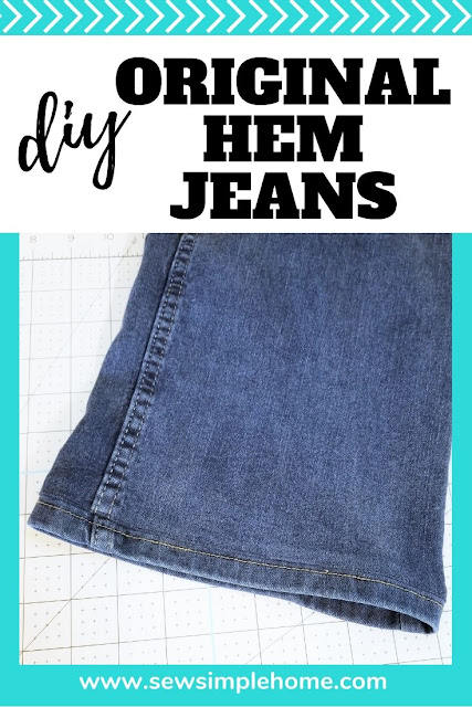 Learn how to keep the original hem on your jeans but still hem you pants to fit your needs with this original hem jeans tutorials.
