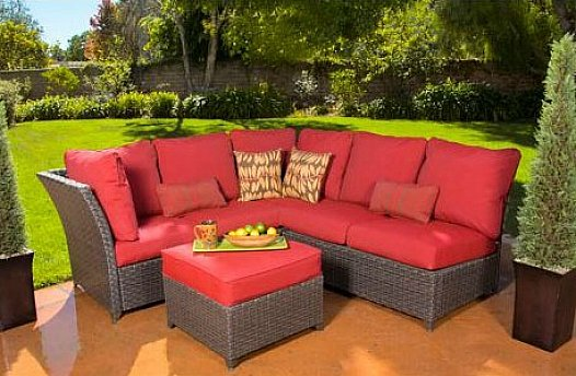 red outdoor patio wicker furniture sale walmart