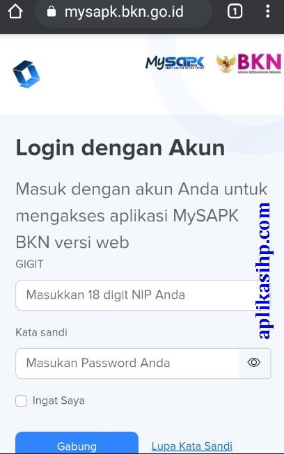 Cara Reset Password Akun PDM ASN/PNS Melalui MySAPK BKN di mysapk.bkn.go.id