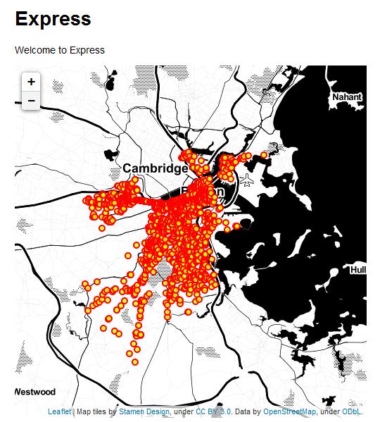 mappatondo: Node JS + Express + PostGIS + Leaflet