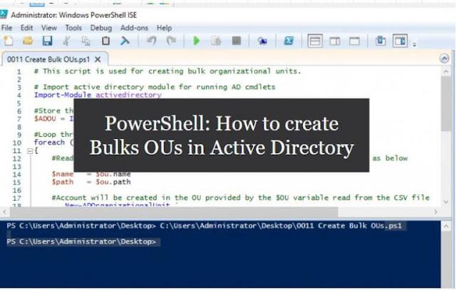 إنشاء وحدات تنظيمية مجمعة (OU) في Active Directory باستخدام PowerShell