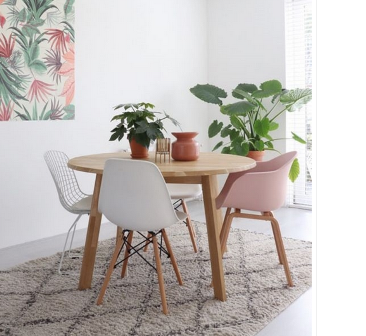 aneka furnitur ruang makan dari kayu untuk dapur sempit
