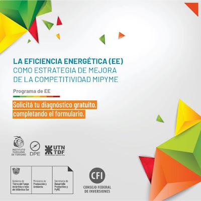 DESARROLLO PRODUCTIVO Y PYME CONVOCA A PARTICIPAR DE LOS DIAGNÓSTICOS GRATUITOS DE EFICIENCIA ENERGÉTICA