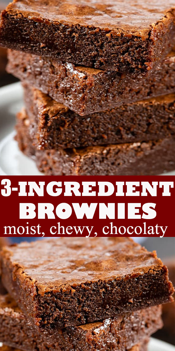 3-INGREDIENT BROWNIES #3-INGREDIENT #BROWNIES #dessert #3-INGREDIENTBROWNIES #recipe
