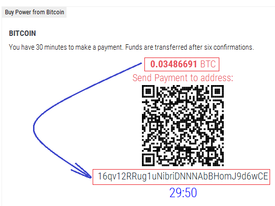 transfer Bitcoin ke Bitsrapid
