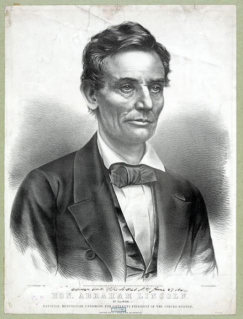drawing of Lincoln from WPClipart.com