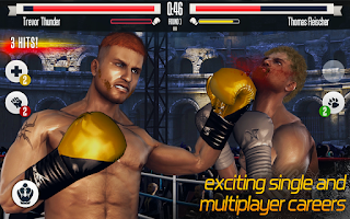 Real boxing fighting image