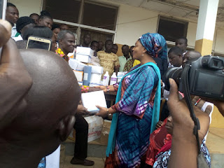 Hajia Abibata Supports Yendi Hospital With Medical Consumables