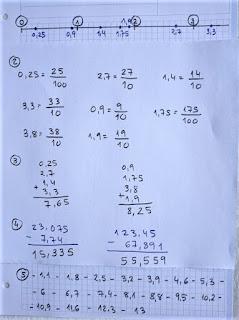 Actividades números decimales.