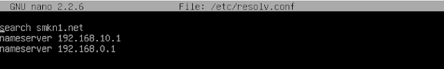 nano /etc/resolv.conf