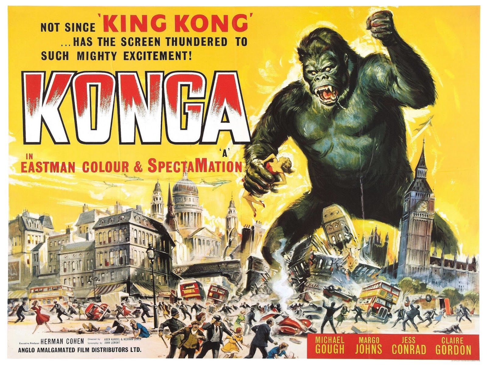 a290f5ece25 Konga is a 1961 British American international co-production science  fiction horror film directed by John Lemont and starring Michael Gough