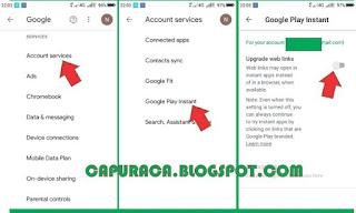 Cara mengaktifkan Aplikasi Instan di Android