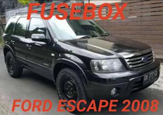 letak box sekring FORD escape 2008