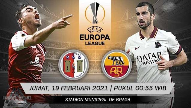 Prediksi Sporting Braga Vs AS Roma