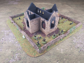 US paras in 15mm for scale with the ruined church