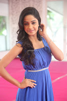 Divya Nandini stunning Beauty in blue Dress at Trendz Exhibition Launch ~  Celebrities Galleries 073.JPG