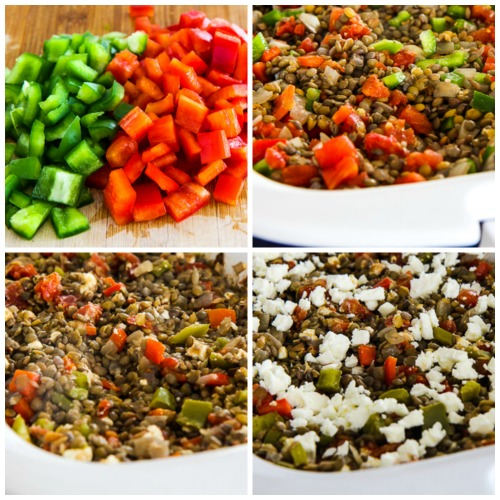 Slow Cooker (or oven) Vegetarian Greek Lentil Casserole found on KalynsKitchen.com