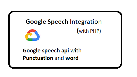 Google speech api with Punctuation and word timestamp
