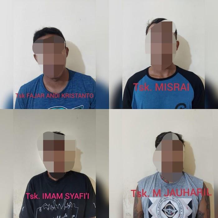 Main Keroyok, 4 Pemuda Dibekuk Polisi