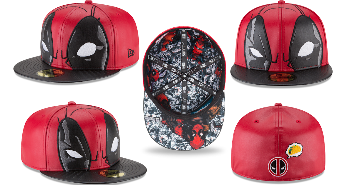 Deadpool 59FIFTY Fitted Hat By New Era Cap X Marvel