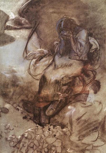 Альфонс Муха - Рыдающая девочка. 1900