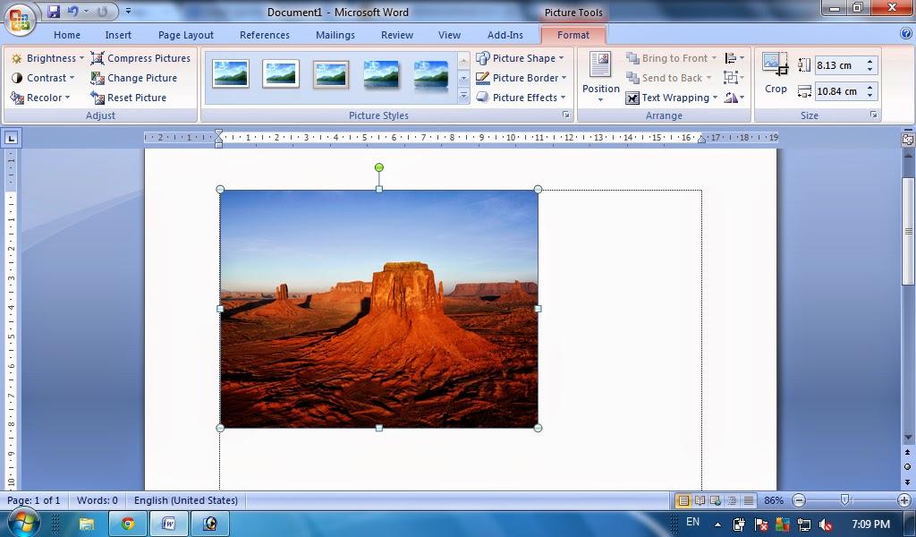 Cara Memasukan Gambar Pada Microsoft Word Insert Picture Tutorial Ms Word Tutorial Komputer