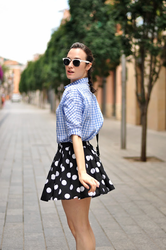 Plaid and dots