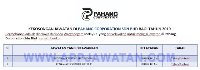Pahang Corporation Sdn Bhd.