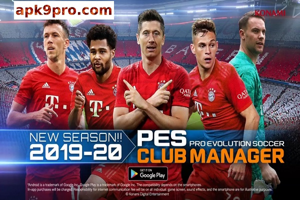 PES CLUB MANAGER 3.0.1 Full Apk + Data File size 1.20 GB for android
