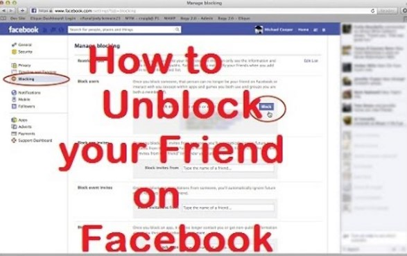 how to unblock my friends on facebook