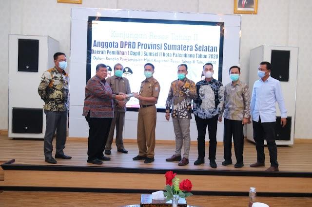 Anggota DPRD Provinsi Dapil Sumsel II Serap Aspirasi Pemkot Palembang