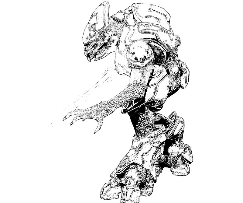 halo 4 gun coloring pages - photo#29