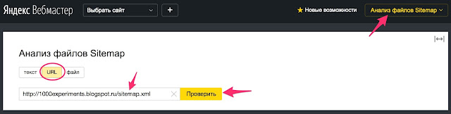 анализ файла sitemap