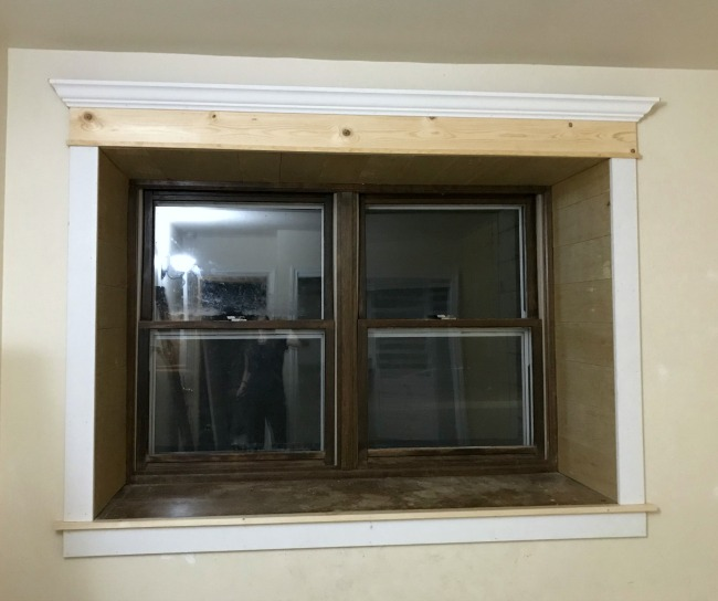 pre paint trimmed out window
