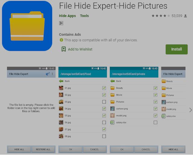 Cara Mudah Menyembunyikan File, Aplikasi Dan Foto Di Android 3