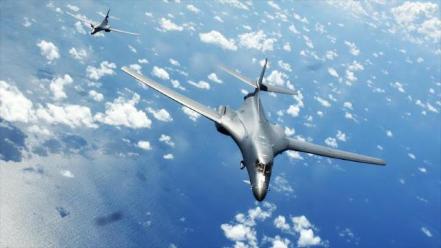 Dos bombarderos de EEUU sobrevuelan península coreana