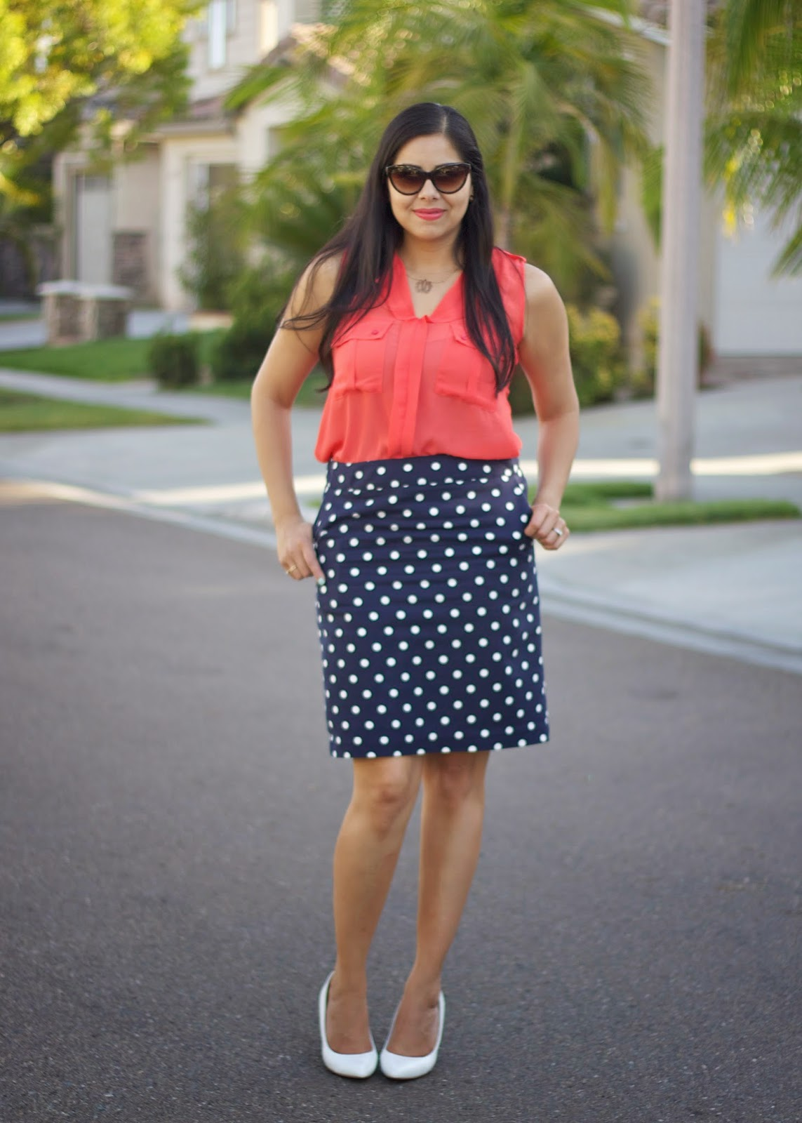 How to wear polka dots, what to wear to church, what to wear to a first communion