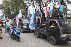 Tolak Kenaikan Iuran BPJS, Ratusan Buruh di Medan Utara Unjuk Rasa