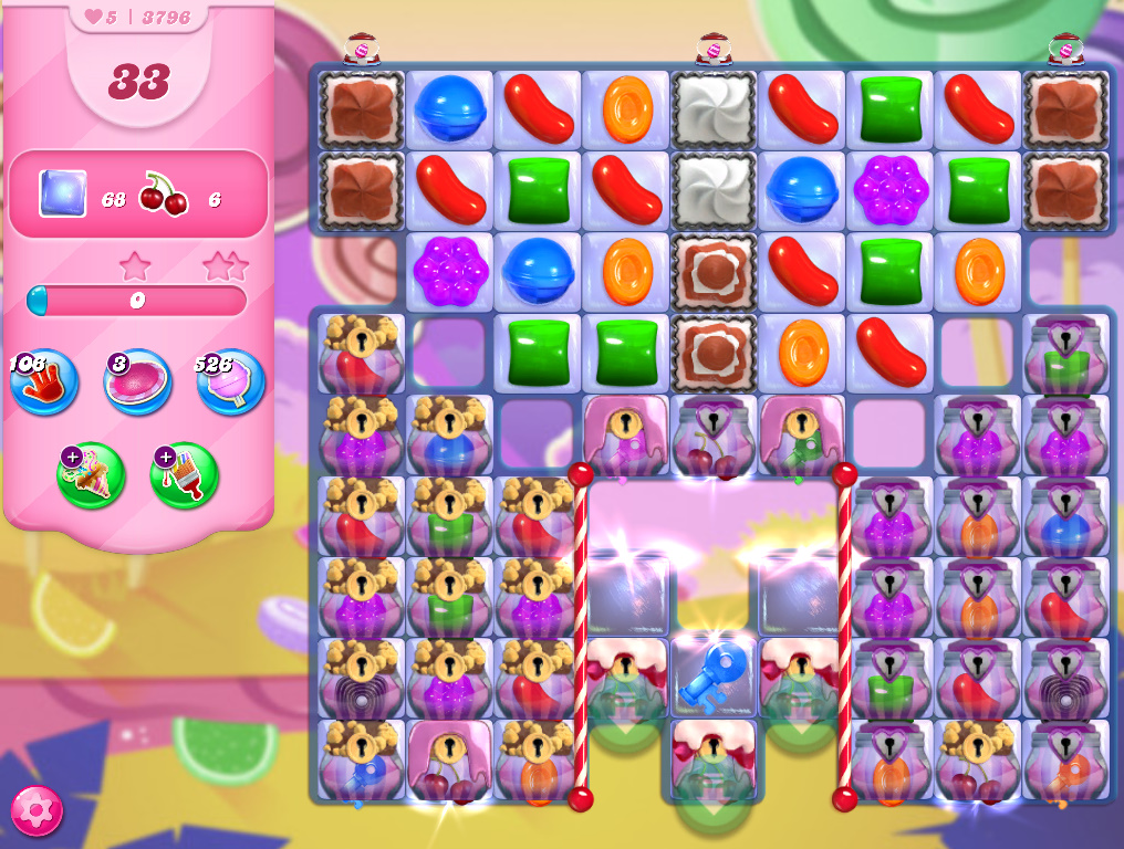 Candy Crush Saga level 3796