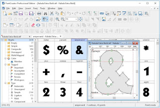 Design and manufacture fonts with    FontCreator Professional Edition