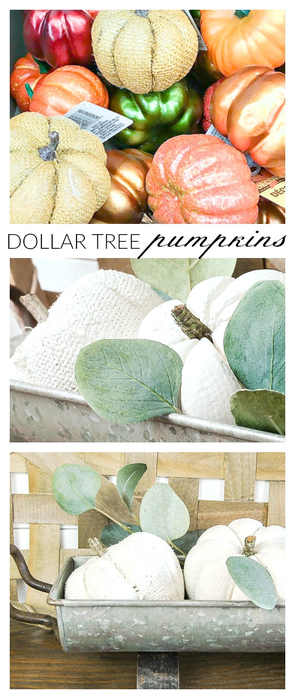 How to update and paint Dollar Tree pumpkins